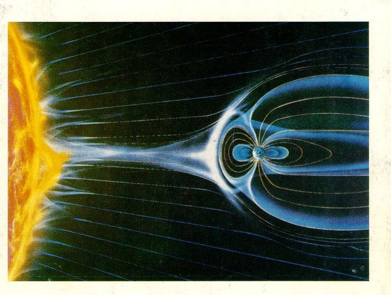 Иллюстрация связи магнитосферы